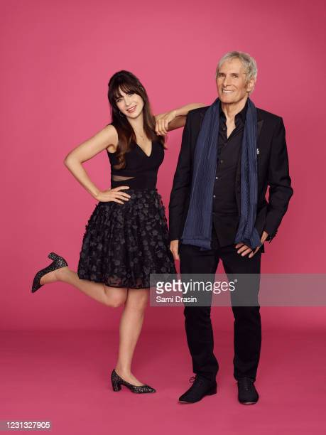 S Celebrity Dating Game stars Zooey Deschanel and Michael Bolton.
