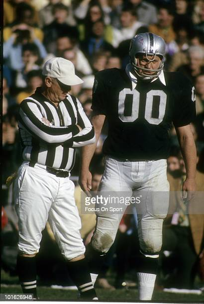 S: Center Jim Otto of the Oakland Raiders, in this portrait on the field circa late 1960's during an NFL football game at the Oakland Coliseum in...