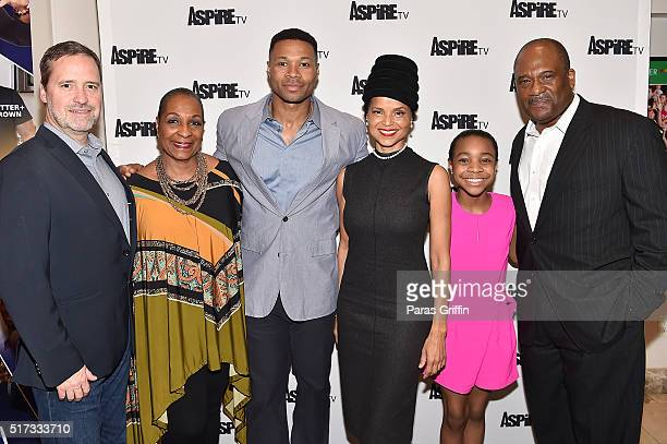UP's CEO and President Charley Humbard Actress DeEtta West Actor Karon Riley Actress Victoria Rowell Actress Nadej Bailey and Actor Gregory Alan...