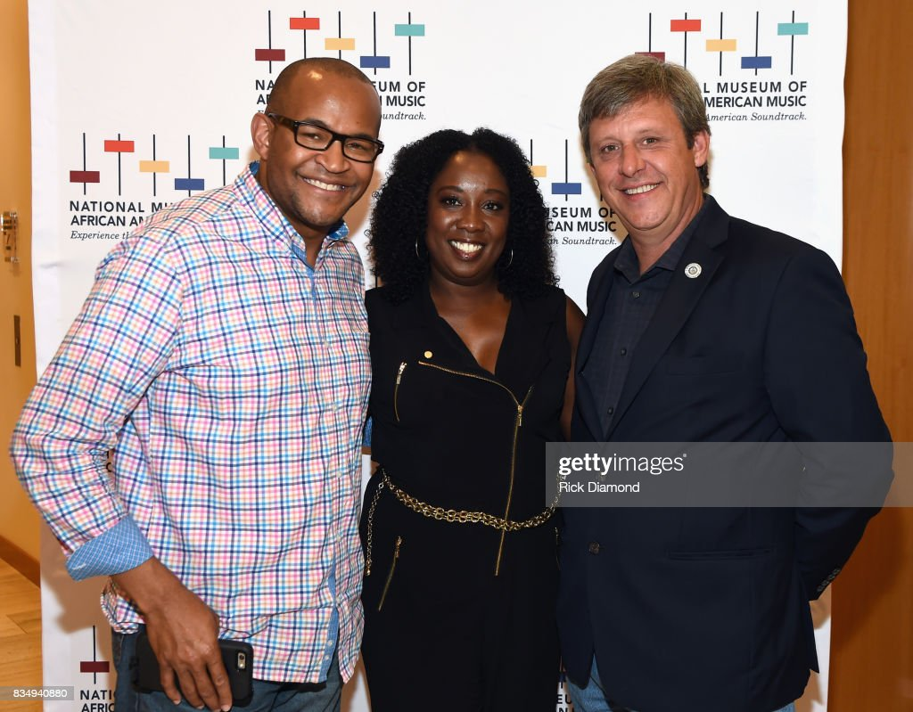 CAA's Charvis Rand, Director of Development/Chief of Staff Lolita Toney and Councilman Robert Swope attend NMAAM Nashville Salon at CAA offices on August 17, 2017 in Nashville, Tennessee.