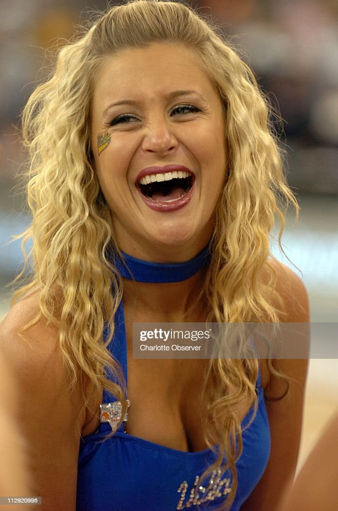UCLA's cheerleader during practice Friday, March 31, 2006, at the RCA Dome in Indianapolis, Indiana. The UCLA Bruins face the LSU Tigers in the second game of the Final Four Saturday, April 1. : News Photo