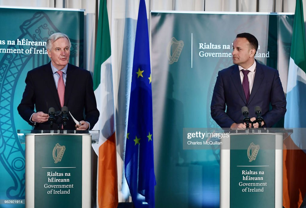 Michel Barnier Visits The UK And Irish Border