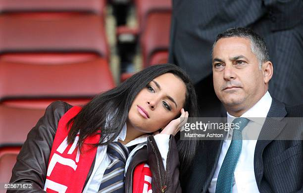 S Chief Executive Samir Al-Ansari in the director box at Anfield Stadium before watcing the Liverpool v Chelsea UEFA Champions League Semi Final 1st...