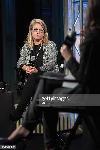 AOL's Chief People Officer Terri Zandhuis attend the AOL Build Speaker Series to discuss better eating habits and health and wellness at AOL Studios...