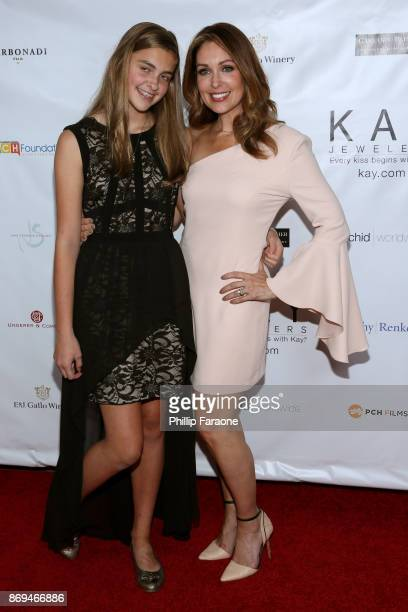 S Christi Paul and daughter attend Jane Seymour And The 2017 Open Hearts Gala at SLS Hotel on October 21, 2017 in Beverly Hills, California.