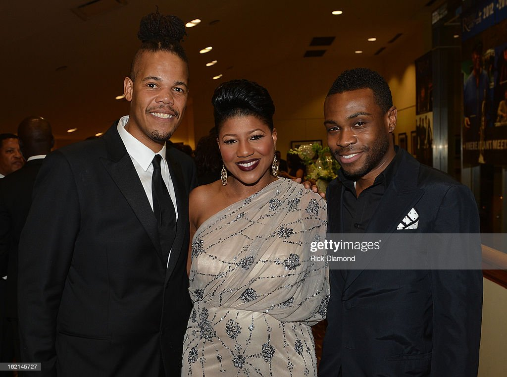 ICON's Chuckie Amos, Sherita Cherr and Merrell Hollis attend the VIP Pre Party at the Bronner Bros. ICON Awards Presented By Clairol - Show on February 18, 2013 in Atlanta, Georgia. United States.