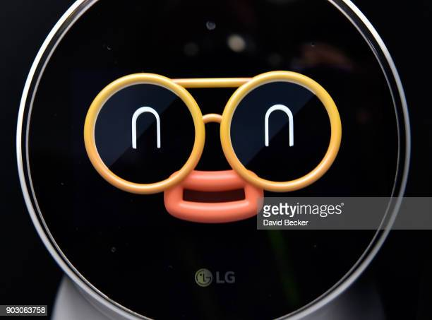 LG's CLOi personal assistant robot is displayed during CES 2018 at the Las Vegas Convention Center on January 9 2018 in Las Vegas Nevada CES the...