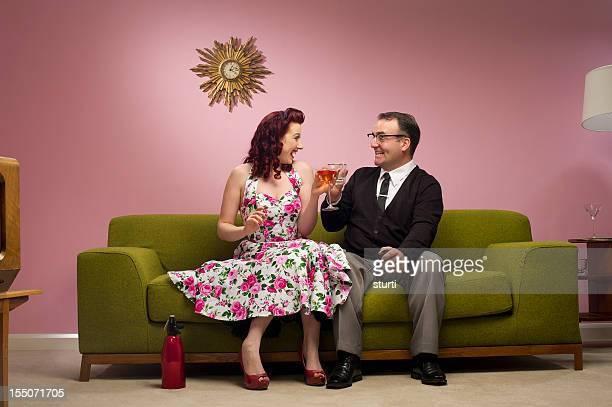 couple cocktails des années 1950