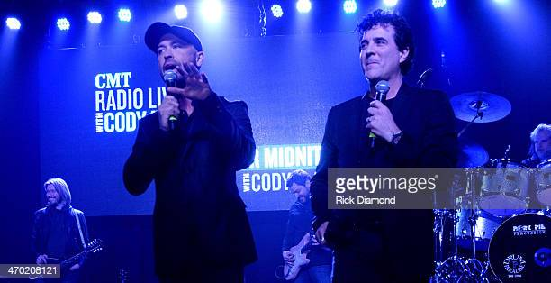 CMT's Cody Alan and Big Machine Label Group President CEO Scott Borchetta welcomes the crowd to the 2014 Big Machine Label Group Show At Country...