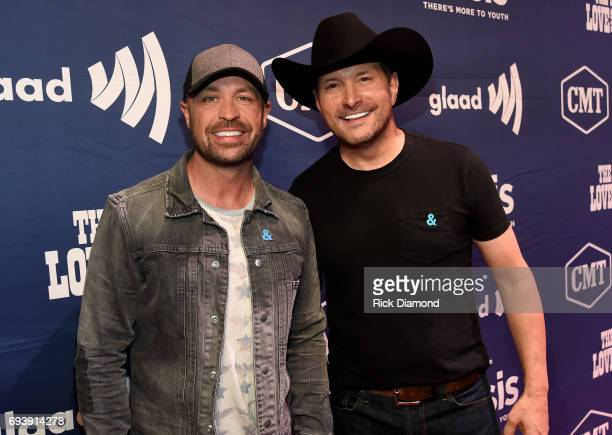 CMT's Cody Alan and singer Ty Herndon attend the 2017 Concert for Love Acceptance on June 8 2017 in Nashville Tennessee