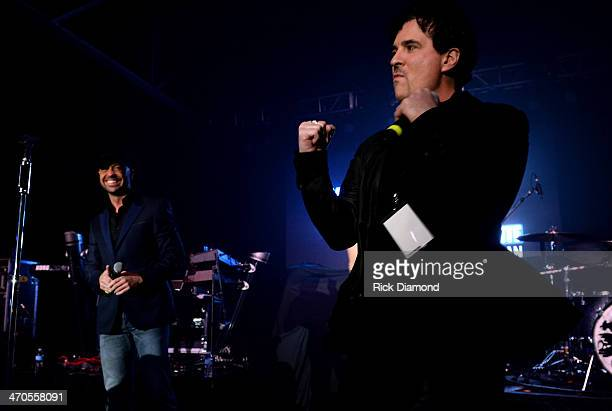 CMT's Cody Alan introduces Big Machine Label Group President CEO Scott Borchetta at the 2014 Big Machine Label Group Show At Country Radio Seminar on...