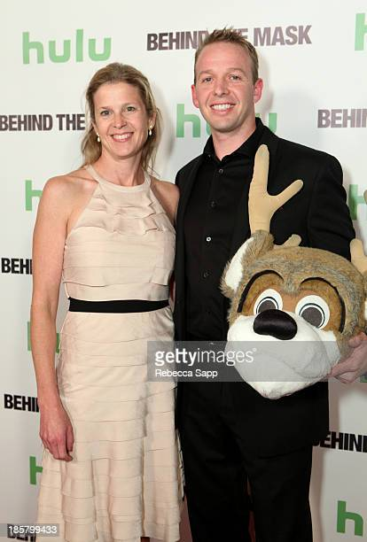 NBA's Colleen Vanderkolk and Milwaukee Bucks' Bango mascot Kevin Vanderkolk at Hulu Presents The LA Premiere Of 'Behind the Mask' at the Vista...