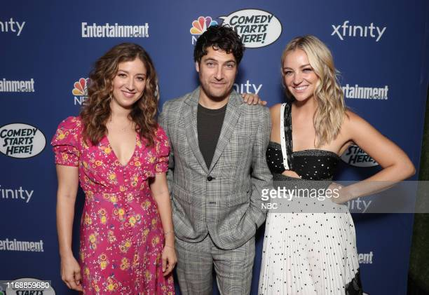 EVENTS NBC's Comedy Starts Here party Pictured Jessy Hodges Adam Pally Abby Elliot Indebted