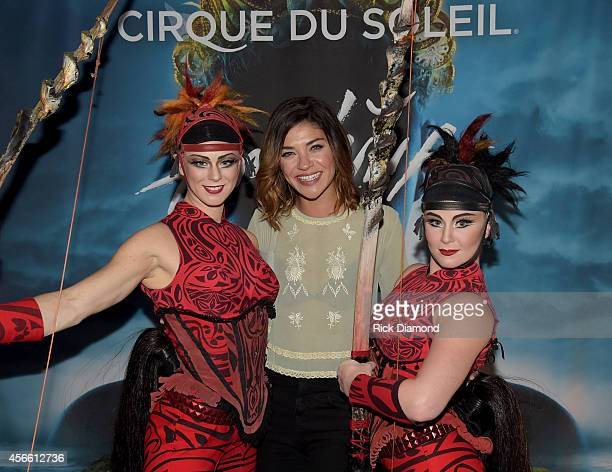 "S ""Complications"" cast member Jessica Szohr attends Amaluna opening night at the Big Top at Atlantic Station on October 3, 2014 in Atlanta, Georgia."