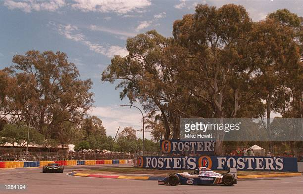 BRITAIN's DAMON HILL CHASES THE BENETTON OF MICHAEL SCHUMACHER PAST THE GUM TREES DURING THE AUSTRALIAN GRAND PRIX AT ADELAIDE Mandatory Credit Mike...