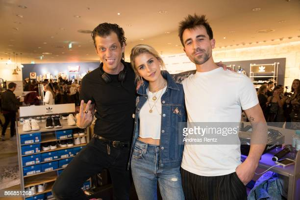 DJ's Dandy Diary and Caro Daur attend the 'Caro Daur x Levi's' event at Peek Cloppenburg Weltstadthaus on October 26 2017 in Duesseldorf Germany