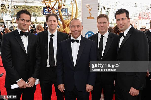 ICM's Dar Rollins Michael KagenTed Chervin Carter Cohn and Adam Schweitzer arrive at the 65th Annual Primetime Emmy Awards held at Nokia Theatre LA...