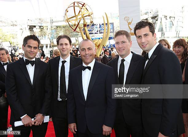 ICM's Dar Rollins Michael KagenTed Chervin Carter Cohn and Adam Schweitzer attend the 65th Annual Primetime Emmy Awards at the Nokia Theatre LA Live...