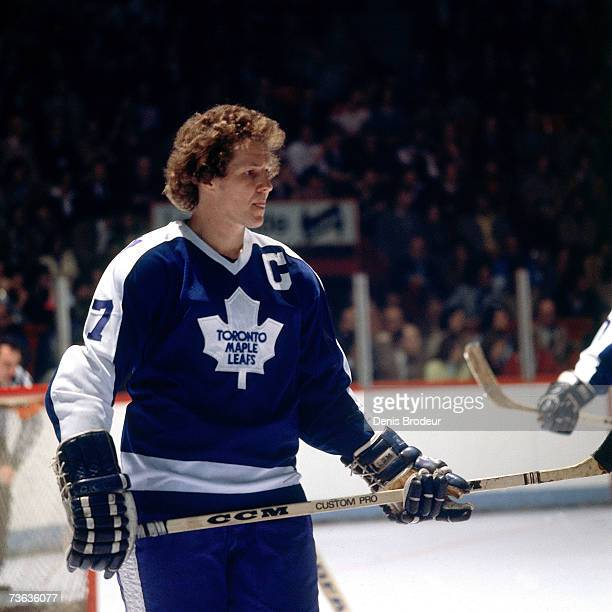 MONTREAL 1970's Darryl Sittler of the Toronto Maple Leafs looks on against the Montreal Canadiens
