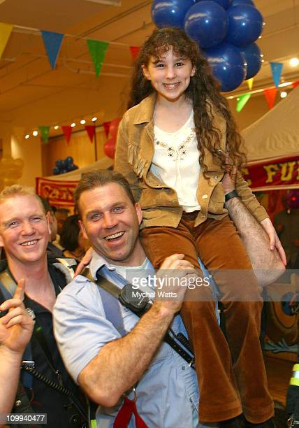 FDNY's Dave Aslan and Hallie Kate Eisenberg during Second Annual Children's Day Artrageous at Metropolitan Pavillion in New York City New York United...
