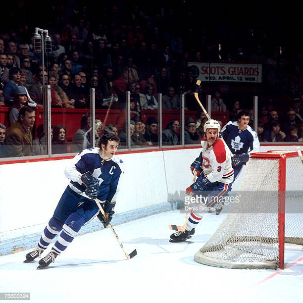 Dave Keon of the Toronto Maple Leafs skates against the Montreal Canadiens.