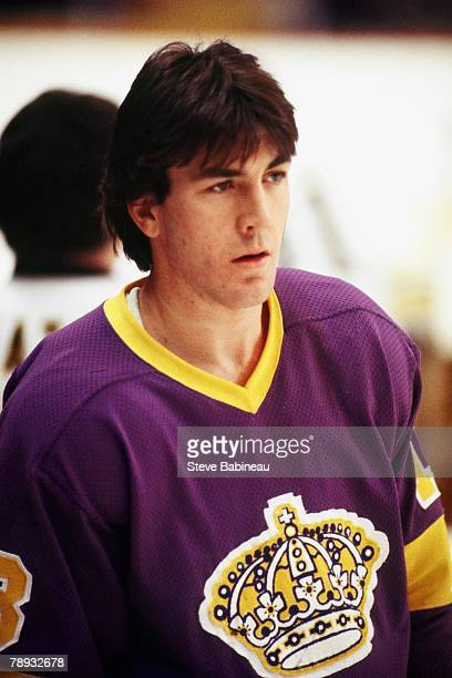 BOSTON MA 1970's Dave Taylor of the Los Angeles Kings in pre game action against the Boston Bruins