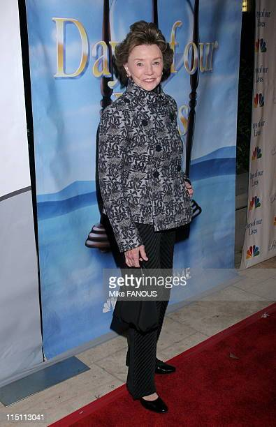 NBC's Daytime Dramas 'Days of Our Lives' and 'Passions' Pre Emmy Party in Burbank United States on April 27 2006 Peggy McCay at French 75