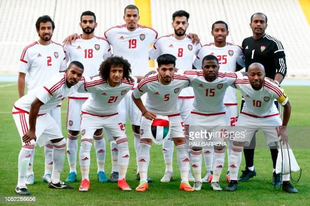 UAE´s defender Mohamed AlMinhali UAE's defender Sultan Mubarak UAE's defender Ismael Ahmed UAE's midfielder Majid Hassan UAE's midfielder Ali Salmeen...
