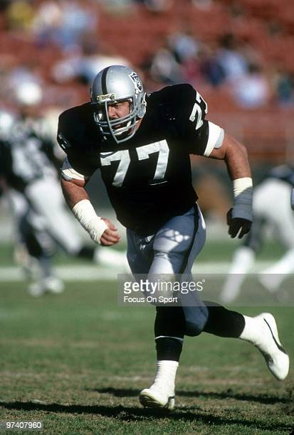 LOS ANGELES CA CIRCA 1980's Defensive Tackle Lyle Alzado of the Los Angeles Raiders in action against the Denver Broncos circa early 1980's during an...