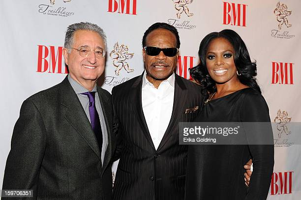 BMI's Del Bryant Edwin Hawkins and BMI's Catherine Brewton attend the 14th annual BMI Trailblazers of Gospel Music Awards at Rocketown on January 18...