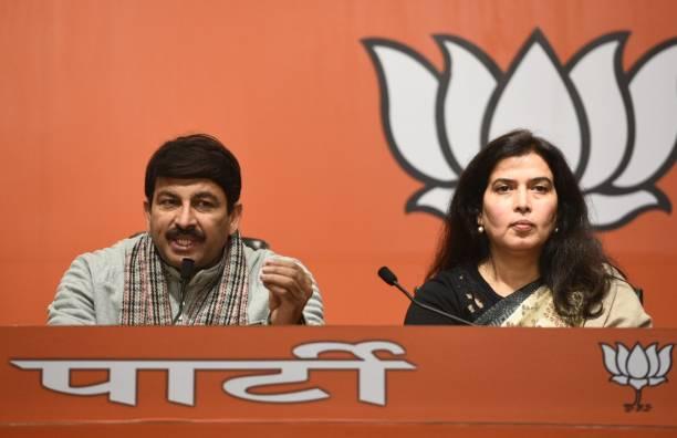 IND: Press Conference Of BJPs Delhi Unit President Manoj Tiwari