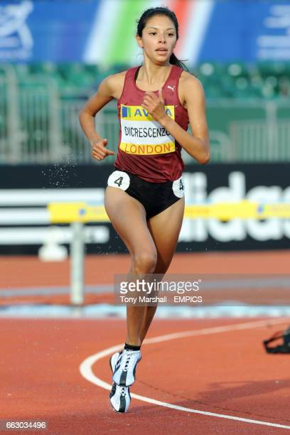 USA's Delilah Dicrescenzo competes in the Women's 3000m Steeplechase