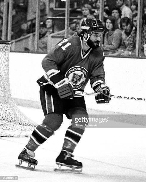 BOSTON MA 1970's Dennis Maruk of the Cleveland Barons in game action against the Boston Bruins at Boston Garden