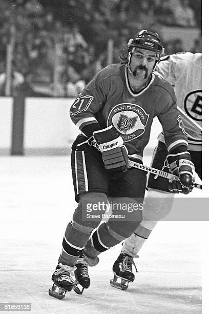 BOSTON MA 1970's Dennis Maruk # of the Cleveland Barons skates in game against the Boston Bruins at Boston Garden