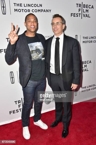 CNN's Don Lemon and Executive Producer Ray Boudreau attend the 2017 Tribeca Film Festival 'The Clapper' screening at SVA Theatre on April 23 2017 in...