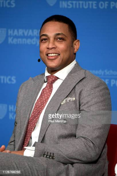 CNN's Don Lemon speaks at Harvard University Kennedy School of Government Institute of Politics in a program titled Race Media and Politics on...