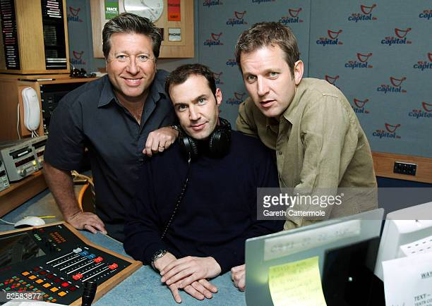 DJ's Dr Fox Johnny Vaughn and Jezza unite to broadcast this year's Capital Radio Help A London Child Appeal at Capital FM Leicester Square on April 3...