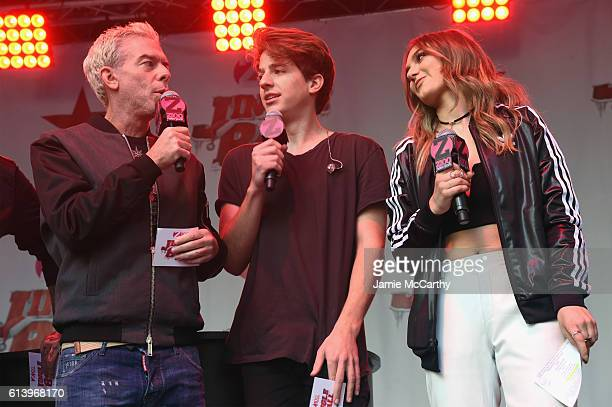Z100's Elvis Duran and singers Charlie Puth and Daya speak onstage during the Jingle Ball 2016 Official Kick Off Event presented by Capital One at...