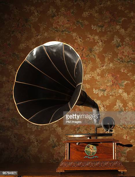 1910's era phonograph - gramophone stock pictures, royalty-free photos & images