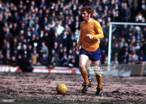 1970's Everton's Alan Ball in action