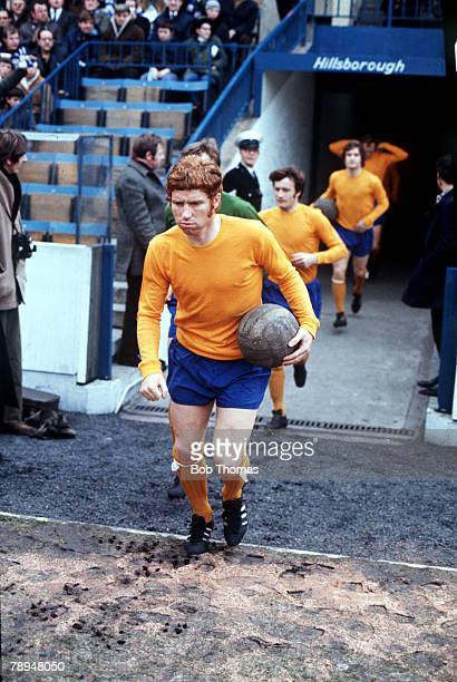 S, Everton's Alan Ball runs out of the tunnel at Sheffield Wednesday's Hillsborough ground
