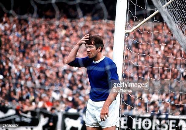S, Everton's Howard Kendall brushes the hair from his eyes as he prepares to defend a corner