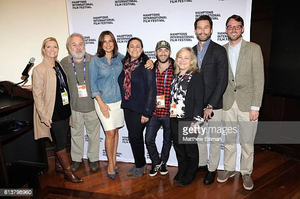 HIFF's Executive Director Anne Chaisson and Artistic Director David Nugent with the 2016 jury David Edelstein Mariska Hargitay Alexis Alexanian John...