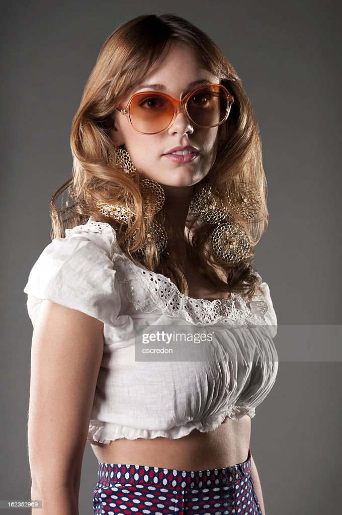 70's fashion model : Stock Photo
