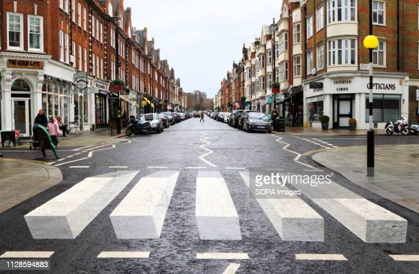 S first '3D' zebra crossing has been painted on St John's Wood High Street as part of a 12-month trial. Westminster City Council are trialling it...