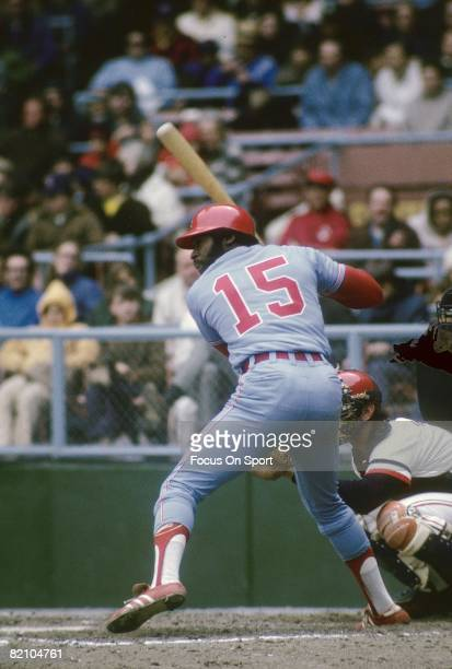 CIRCA 1970's First baseman Dick Allen of the Chicago White Sox ready to hit waiting on the pitch during a mid circa 1970's Major League Baseball game...