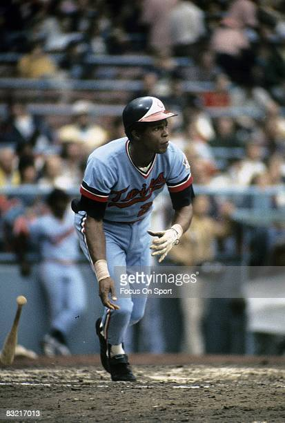 CIRCA 1970's First baseman Rod Carew of the Minnesota Twins swings and watches the flight of his ball during a MLB baseball game circa early 1970's...