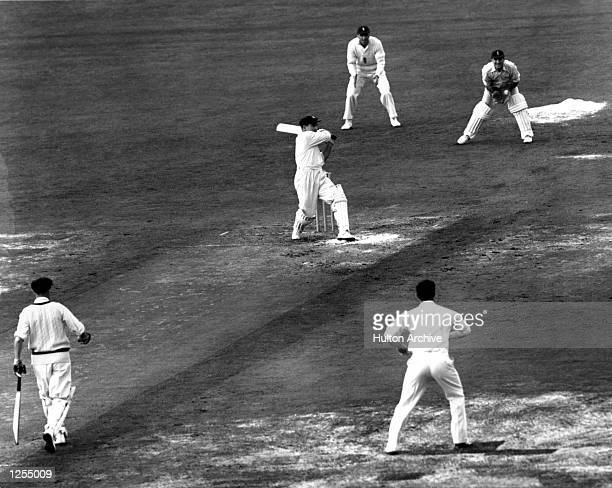 S FIRST INNINGS IN THE FINAL TEST MATCH AGAINST ENGLAND AT THE OVAL. Mandatory Credit: Allsport Hulton/Archive