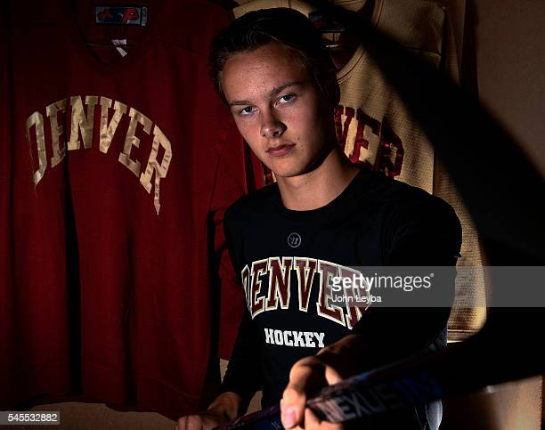 DU's firstround draft pick Henrik Borgstrom Finnish/Swedish poses for a portrait July 8 2016 in the locker room