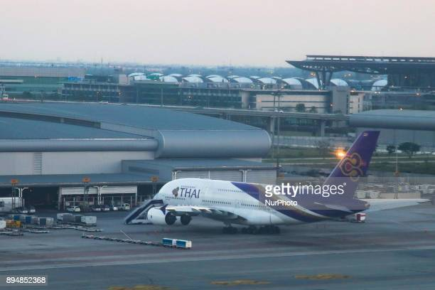THAI's fleet as seen in Bangkok Suvarnabhumi International Airport Thai Airways the flag carrier airline of Thailand is state owned by 51% The...